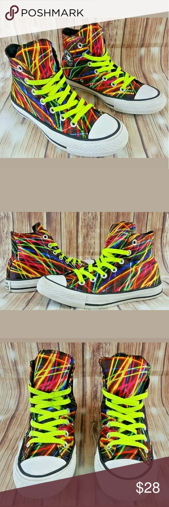 Converse Chuck Taylor All Star Hi Silky Neon Converse Chuck Taylor All Star Hi Lights Silky Neon Sneakers Size Mens 4 Women's 6 Converse Shoes Sneakers