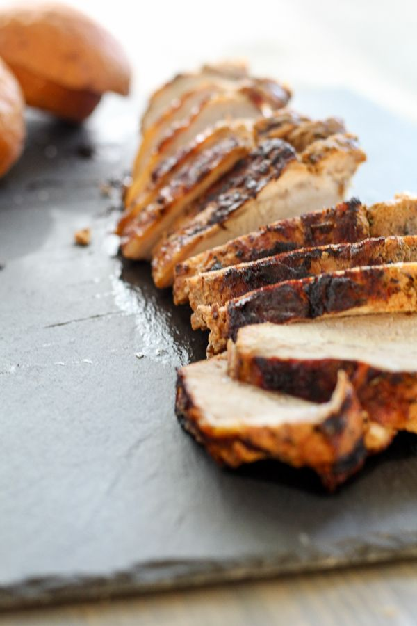Grilled Pork Tenderloin using fresh marinated pork.  #ad #shop #RealFlavorRealFast  So many easy dinner ideas, including ours for Tenderloin Sandwiches.  #easyrecipe