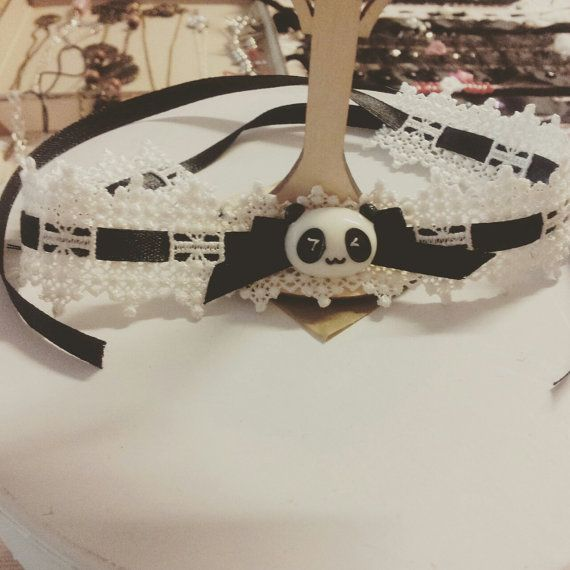 Kawaii panda chocker by MeameHandmade on Etsy