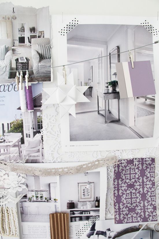 Purple And White Moodboard
