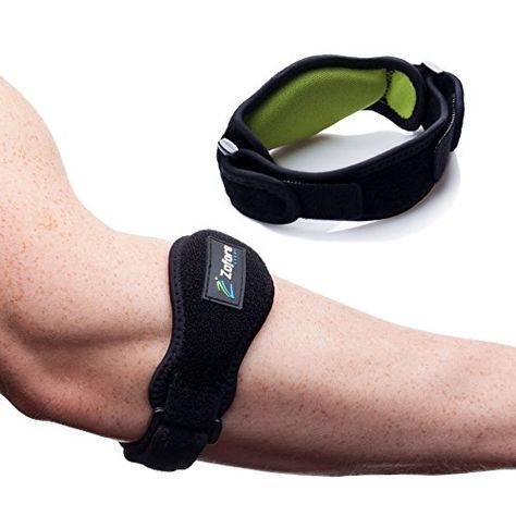 Best Tennis Elbow Brace 2 Pack by Zofore - Effective Pain Relief for Tennis Elbow - Adjustable Counterforce Braces With Compression Pad Support - E-Book Bonus >>> Click image for more details.