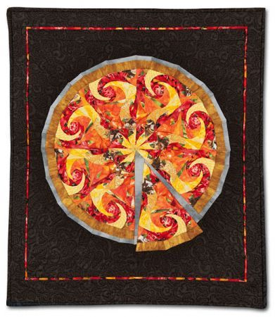 """No Slices, Fuggedaboutit!"", a pizza quilt by Betsy ..."