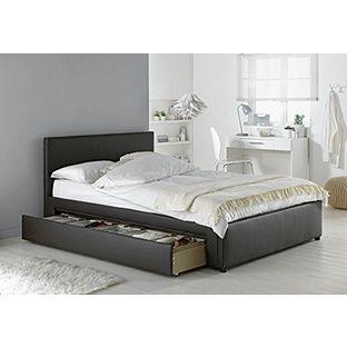 Buy Hygena Sandyford Small Double Bed Frame - Black at Argos.co.uk, visit Argos.co.uk to shop online for Bed frames