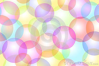 Colorful bubbles bokeh background