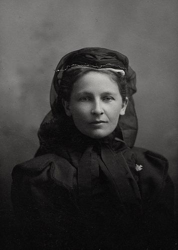 Lovely Widow in Black, Canadian Silver Gelatin Print on Cardboard, Circa 1905 | by lisby1