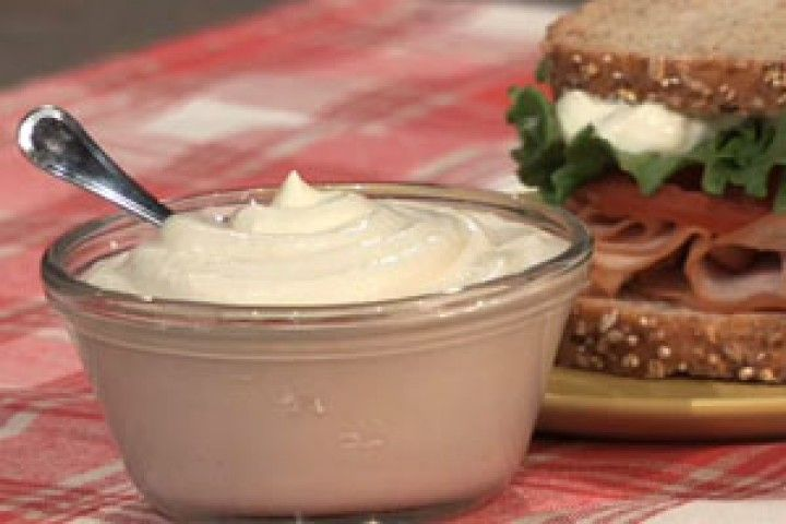 Healthier homemade mayo with greek yogurt.  Magnificent Mayonnaise   The Dr. Oz Show