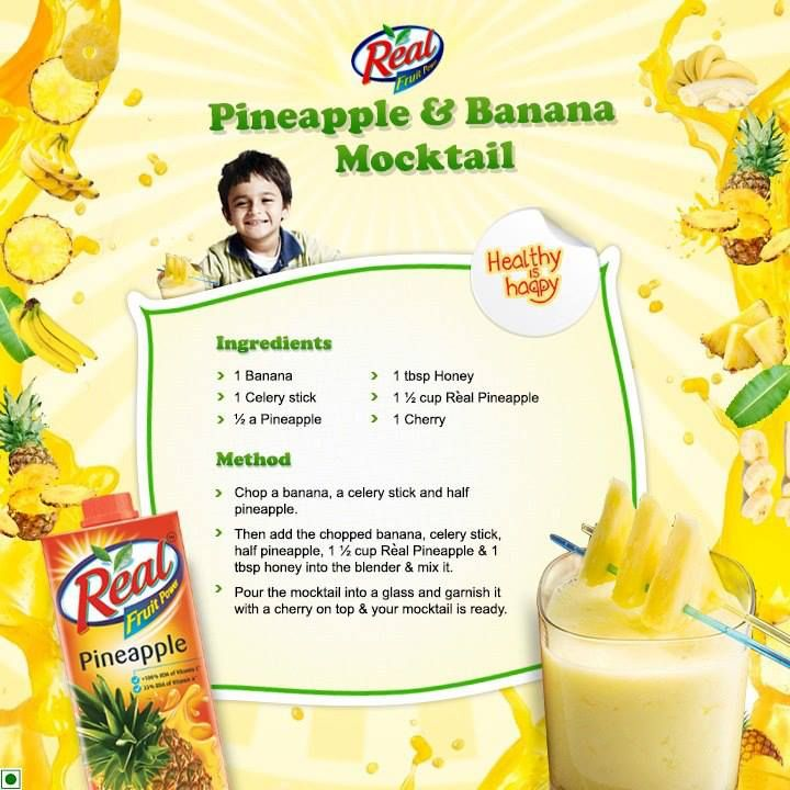 Yum what a great idea! Being a non drinker and a human with taste (haha) I'd love to have one of these myself! :D Give your sporty kid a dose of iron and vitamins with this healthy and yummy mocktail blended with pineapple & banana  Check out my board for more inspiration for your sporty kiddies !