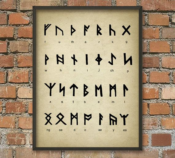 Hey, I found this really awesome Etsy listing at https://www.etsy.com/listing/183810826/runes-alphabet-wall-art-poster-runes