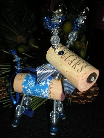 WINE CHRISTMAS ORNAMENT - Winedeer-Primitivo. $16.95, via Etsy.