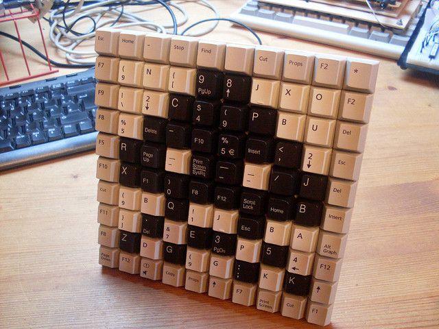 More Space Invaders!! by ThreeHeadedMonkey, via Flickr: Invaders Keyboard, Gadgets Ideas, Crafts Ideas, Geek Stuff, Spaces Invaders, Geeky Crafts, Geeky Things, Keyboard Mosaics, Geek Rooms