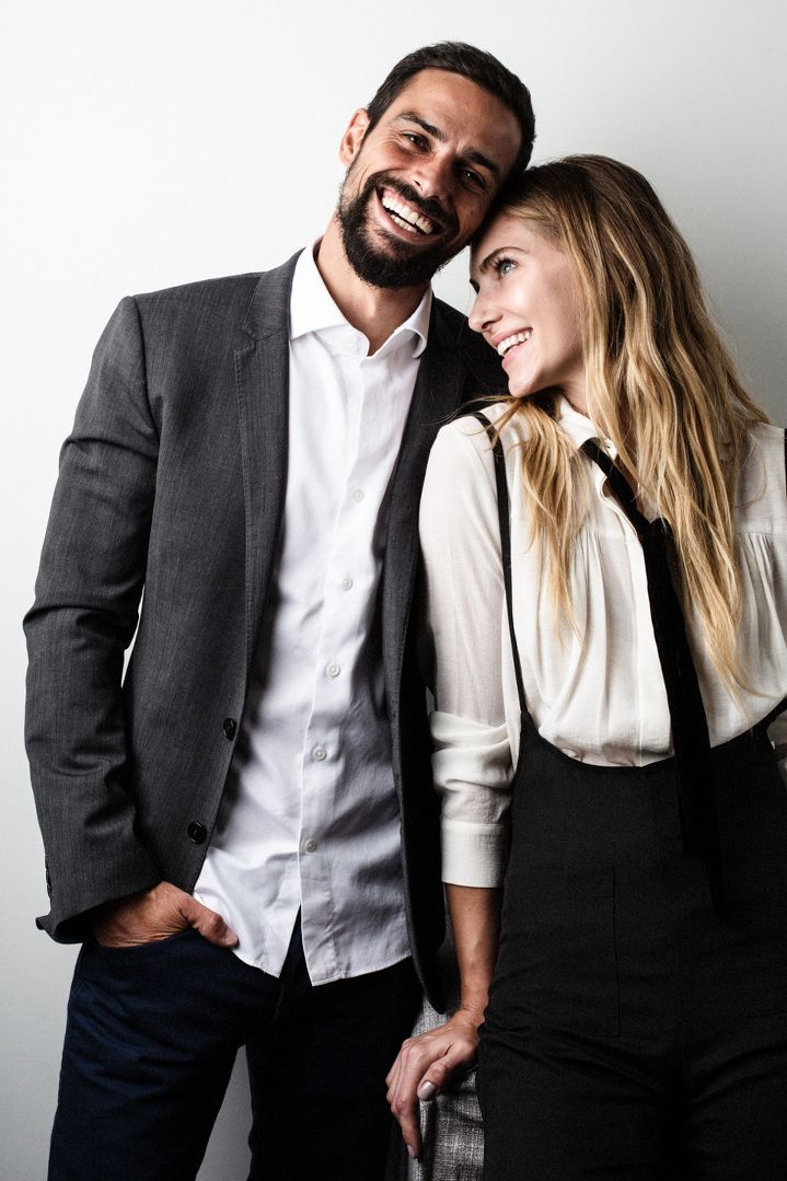 Creative marriages, Michelle Kim, Jena Yeargan, Yves Sousa, Vision LA, Model, Beautiful Couple, Vogue Couples, Vogue Editorial, Engagement Shoot, Editorial Engagement, Studio Shoot, Lifestyle, Tattoo, Tattoo Sleeve, Diesel Jeans, James Perse, Beard, Maje, Re:Named, Dolce & Gabbana