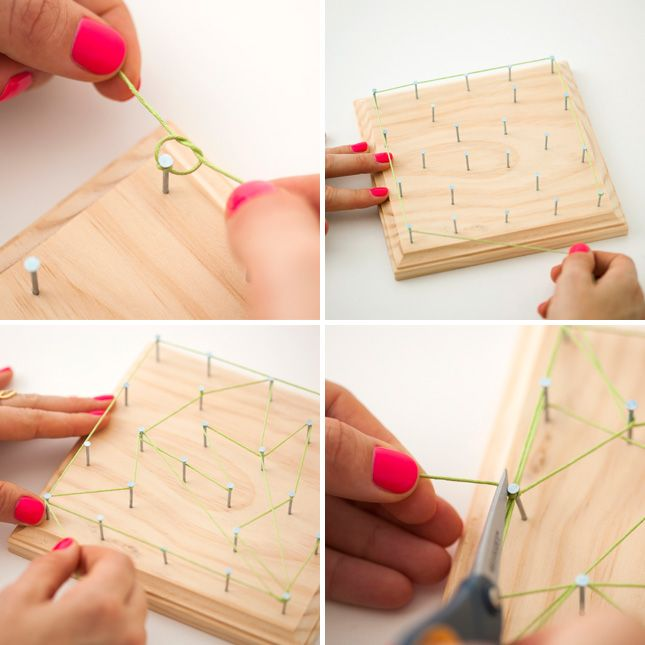 How to make string art.