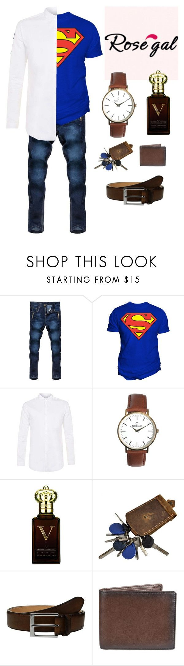 """Super man"" by vegas777 ❤ liked on Polyvore featuring Changes, Topman, Clive Christian, To Boot New York, Apt. 9, men's fashion and menswear"