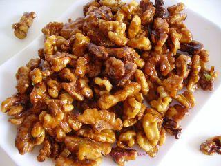 Nueces caramelizadas crujientes