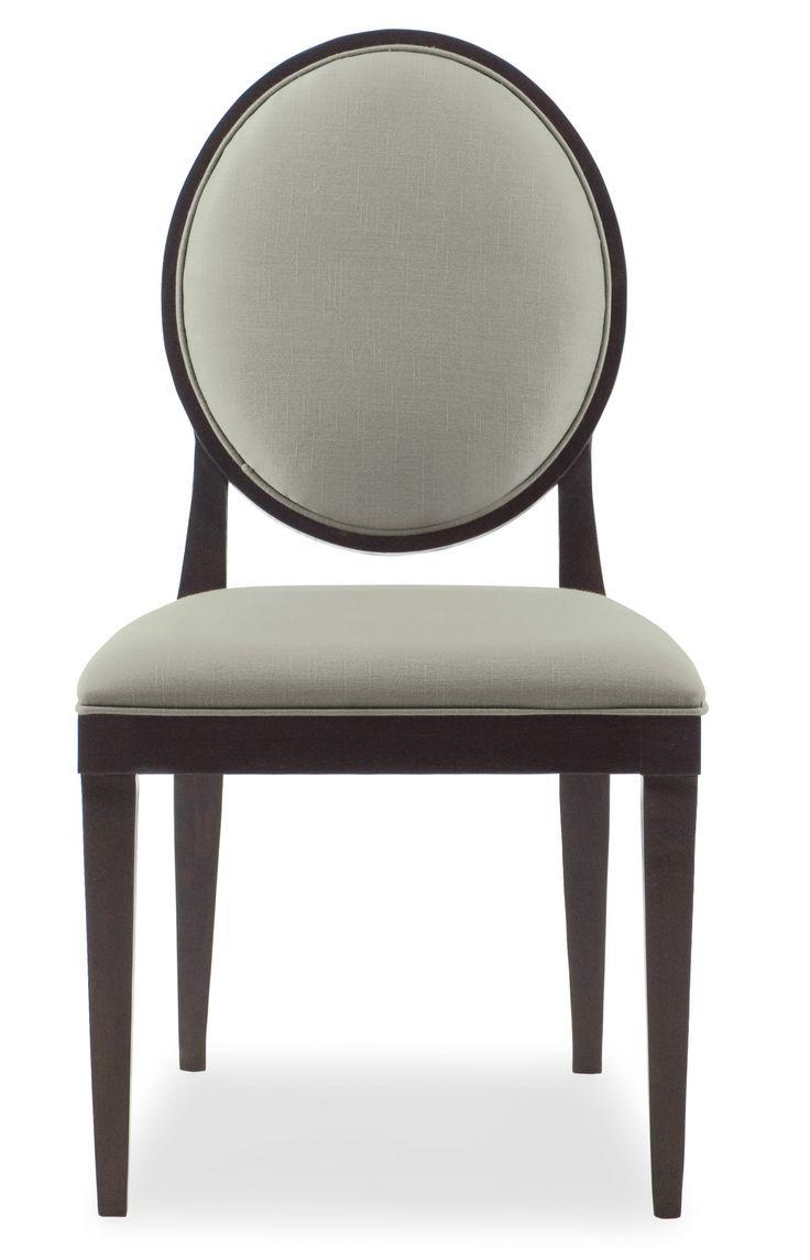Дивный стул с изящными тоненькими ручками и ножками, мягкой обивкой спинки и сидения. Стул выполнен в отделке Raven.             Метки: Кухонные стулья.              Материал: Ткань, Дерево.              Бренд: Bernhardt.              Стили: Классика и неоклассика.              Цвета: Серый.