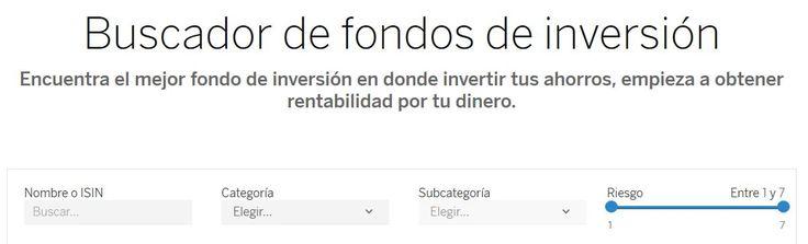 Fondos de inversión del BBVA.