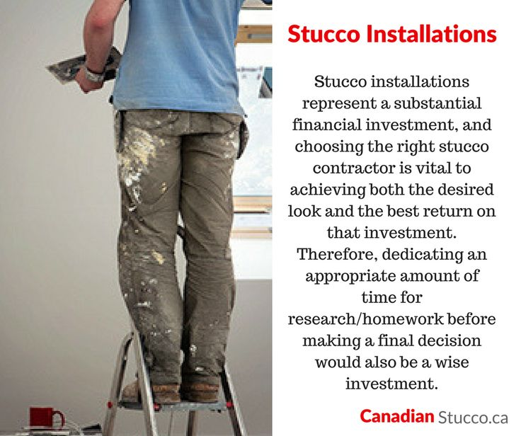 Did you know... #Stucco installations represent a substantial financial #investment. www.canadianstucco.ca