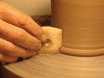 Van Gilder's Profiled Foot Rib http://www.clay-king.com/pottery_tools/van_gilder_tools.html                                                                                                                                                                                 More