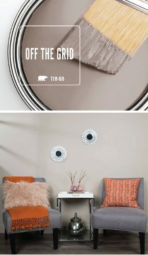 A fresh coat of BEHR Paint in Off The Grid is just what you need to spruce up the interior design of your home this winter. This warm beige hue is part of the BEHR 2018 Color Trends collection. Pair this neutral shade with mid-century modern furniture, white home decor pieces, and pops of bright accent colors to create a contemporary style.