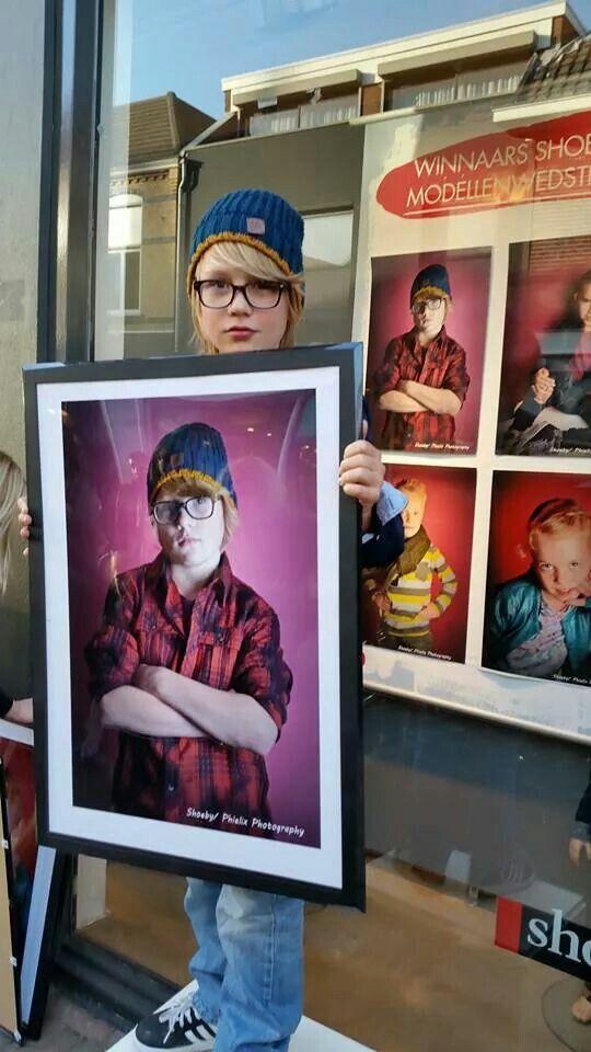 Caspar winnaar van shoeby fotoshoot