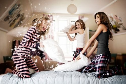 Pillow fight! Do you know how hard it is to find a non-sexy pillow fight photo?