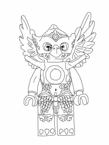 Lego Chima Coloring Pages Eagle Alexs stuff Pinterest