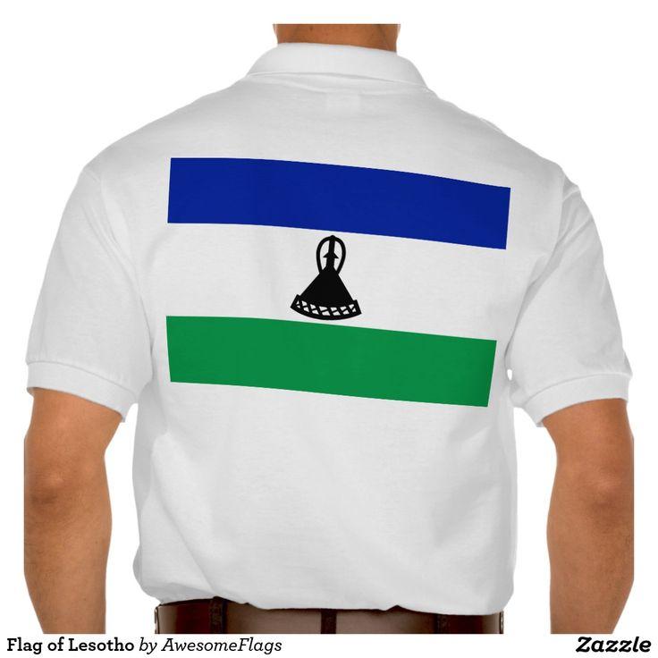 Flag of Lesotho Polo T-shirts