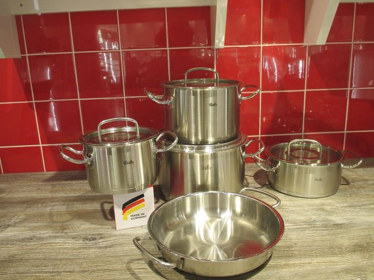 Fissler Original Profi Collection Topfset, 5 tlg. mit Glasdeckel