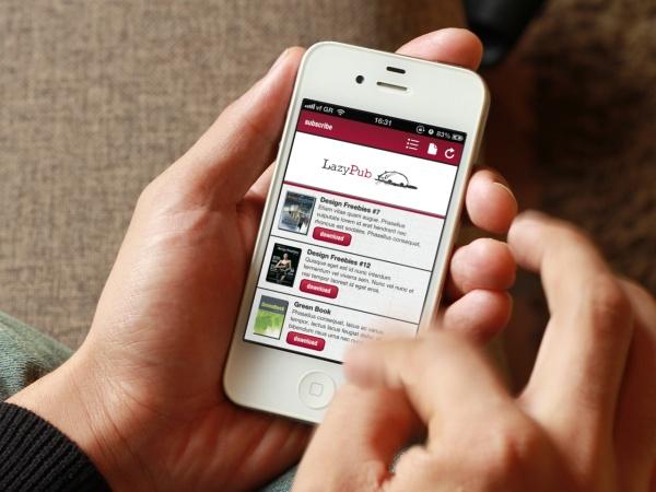 #LazyPub #magazine #Greek #startup #iPhone