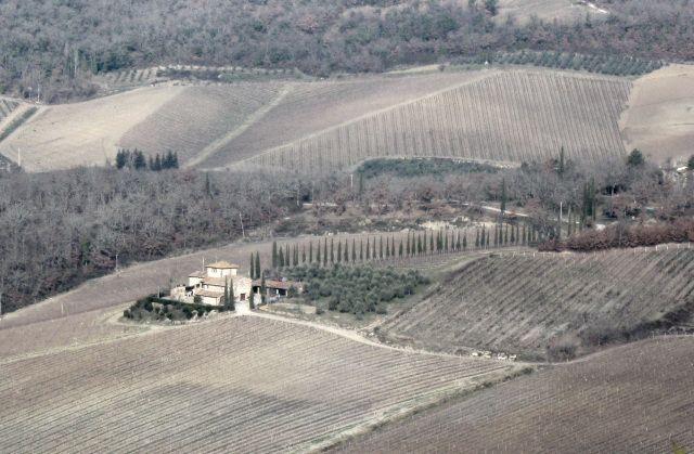 Il bel paesaggio toscano: campi coltivati e coloniche, armonia tra natura e…