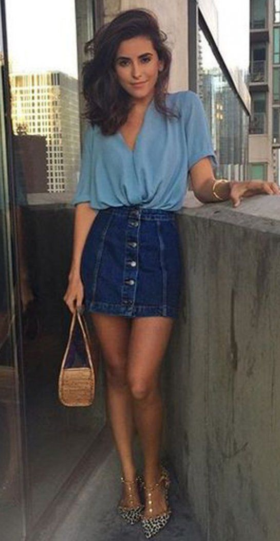 cf38fc19a7 40 Best Outfits For Those Who Love Denim | Fashion | Pinterest ...