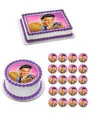 Elvis Presley Edible Birthday Cake OR Cupcake Topper – Edible Prints On Cake (EPoC)