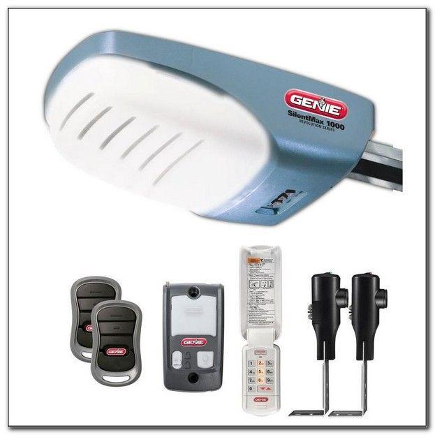 Genie Silentmax 1000 Belt Drive Garage Door Opener Genie Garage Door Garage Door Opener Remote Quiet Garage Door Opener