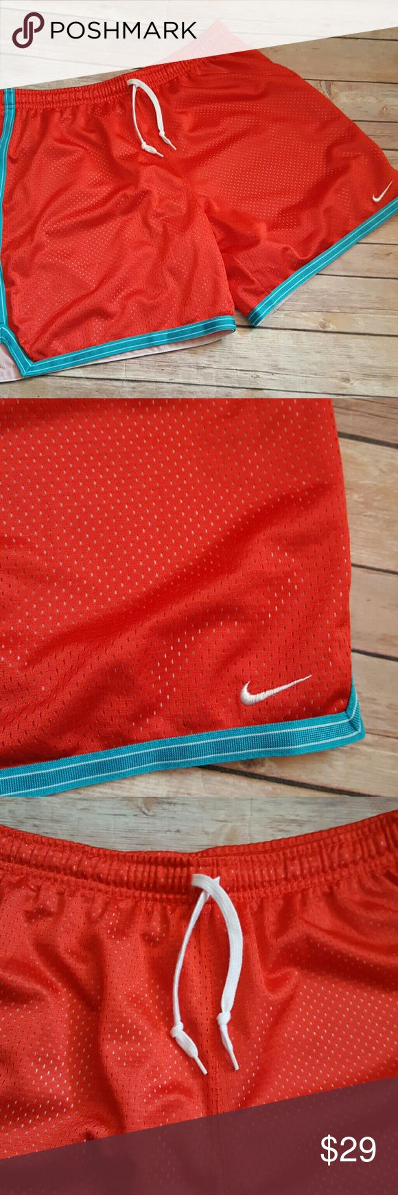 "Womens Basketball Shorts Size Medium 8 10 Red Blue Very gently worn Length 16.5"" Waist 15.5"" Nike Shorts"