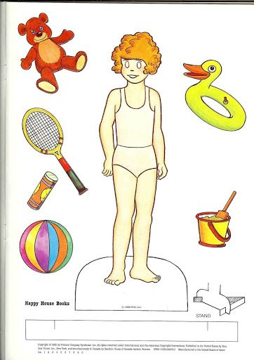 Little Orphan Annie paper doll (with original blank eyes.)