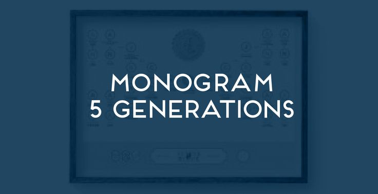 Monogram 5 Generations. The Family Tree Co ©