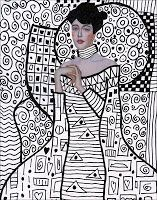Art Projects for Kids: Klimt Template, FREE Download; what a great refresher for upper level students to discuss lines and shapes at the beginning of the year: