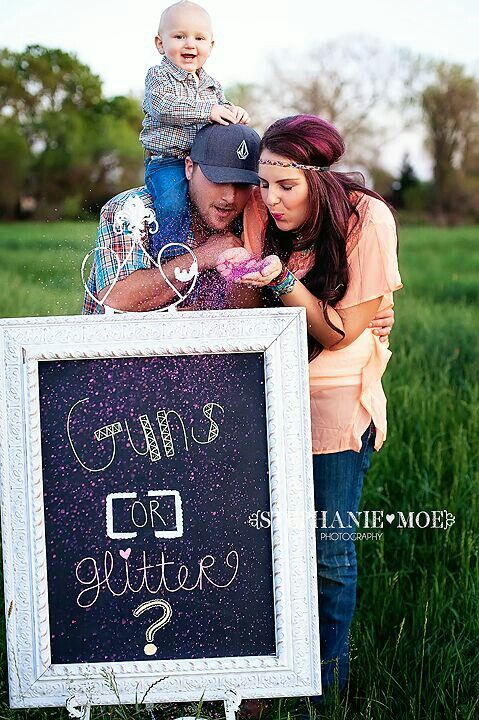 cute for the next one! Hunting/Country Baby Gender Reveal Idea #genderreveal http://www.mybigdaycompany.com/baby-showers.html