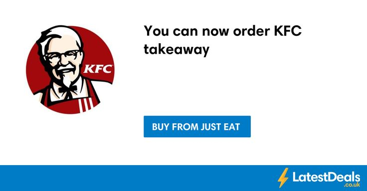 You can now order KFC takeaway at Just Eat