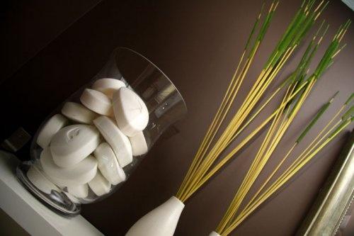 bathroom decor- soap in a jar!: Decor Ideas, Guest Bathroom, Decor Fillers, In A Jars, Bathroom Show, Future Bathroom, Houses Ideas Bathroom, Bathroom Ideas, Bathroom Decor