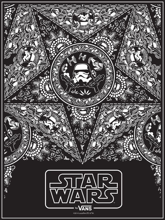 66558113e9 Vans-x-Star-Wars-Poster-for-Comic-Con Stormtrooper-Bandana Tony-Munoz