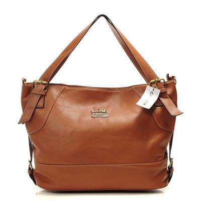 Coach New Madison Liquid Gloss Tote Orange Handbag