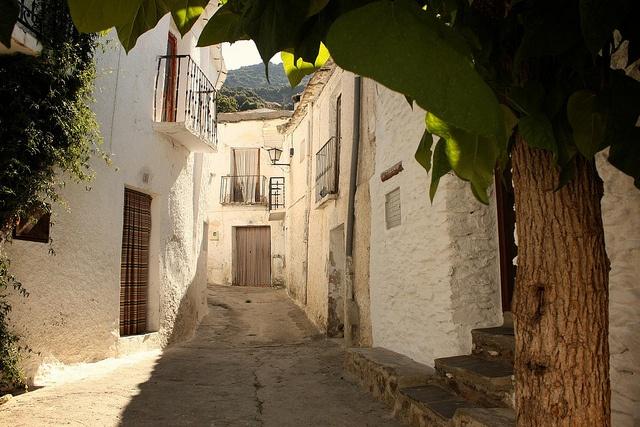 Streets of Bubion, Alpujarra, Sierra Nevada, Spain