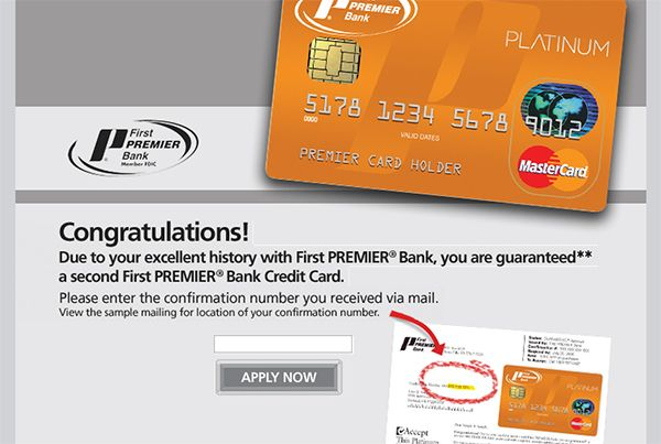 www.mysecondcard.com - First Premier Bank Second Card |