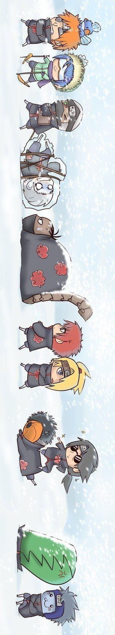 Olha a tropa!! pera tem em pokemon em sima da cabeça do pain