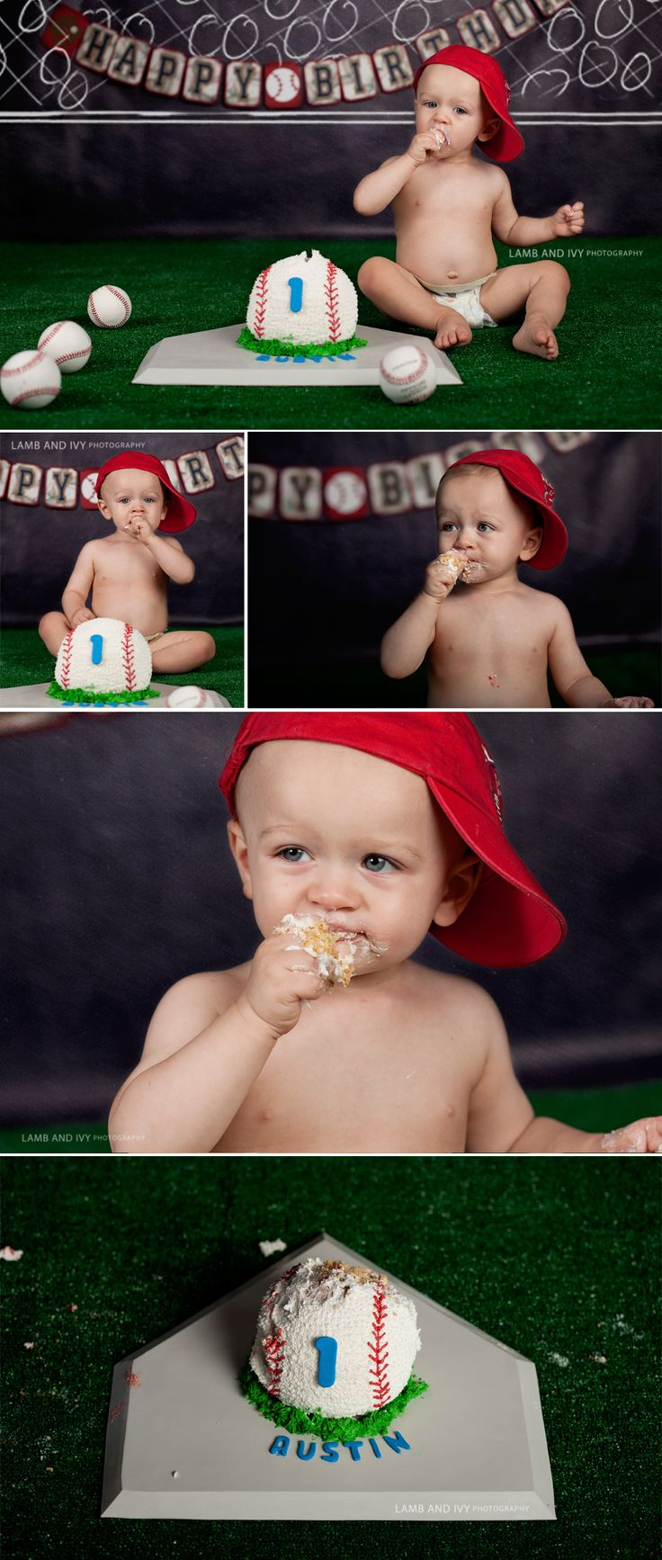 We had so much fun with this session! First, birthday pics with a Sesame Street theme and then a baseball themed cake smash with the cutest cake EVER! Contact Jen at jen@lambandivyphotography.com t...