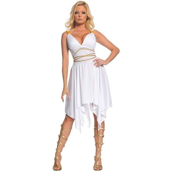 Underwraps Sexy Womens Greek Roman Goddess Toga Halloween Costume ($23) ❤ liked on Polyvore featuring costumes, lady halloween costumes, sexy costumes, sexy ladies costumes, sexy lady costumes and womens toga costume