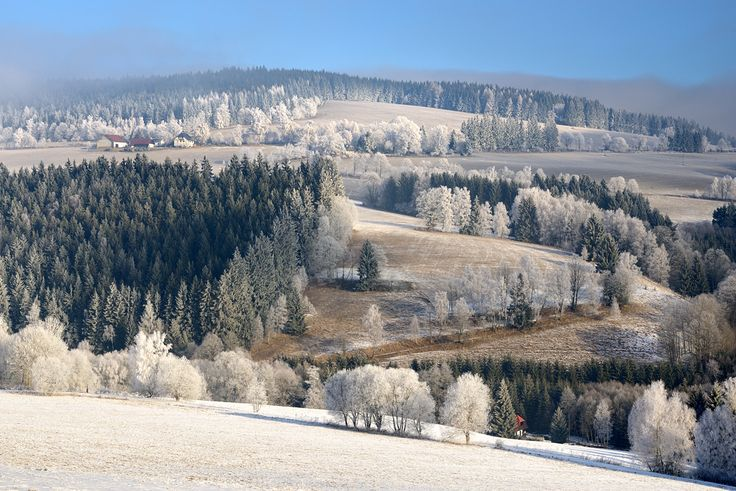 Beautiful winter in Czech Republic.