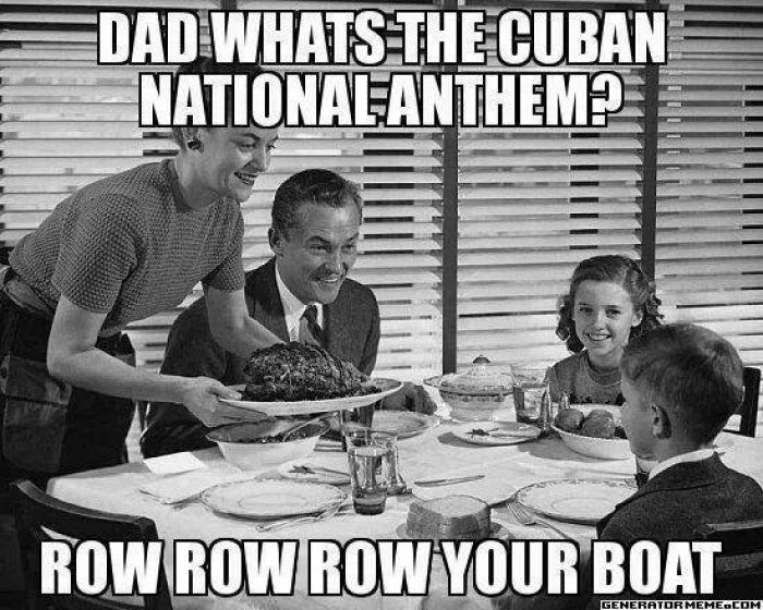 Cuban national anthem - joke meme - http://www.jokideo.com/