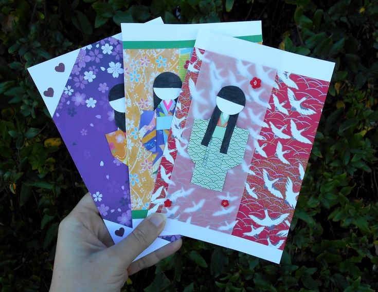 japanese greeting card  asian cards paper greeting cards